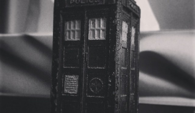 So let me get this straight. A thing that looks like a police box, standing in a junkyard – it can move anywhere in time and space? #SaveTheDay #DoctorWho #DW50 #TARDIS
