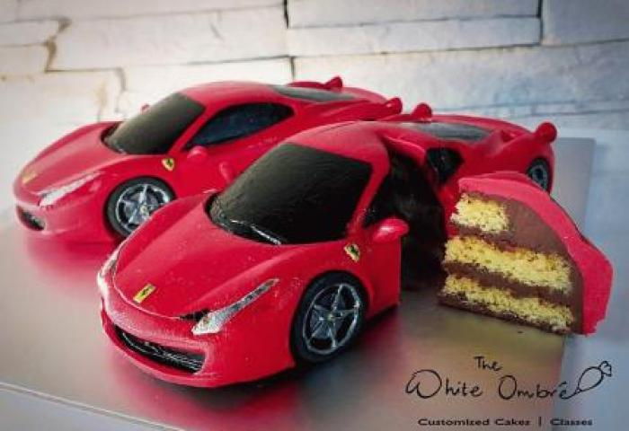 Mini Ferrari Italia 3d Car Cake Class Peatix