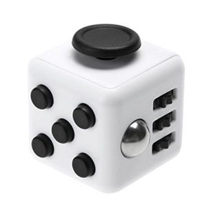 Fidget Cube alb-negru