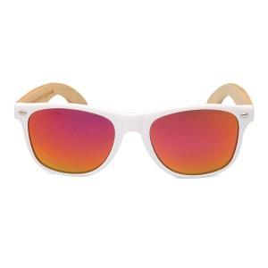 Ochelari de soare Bobo Bird alb, lentila portocaliu