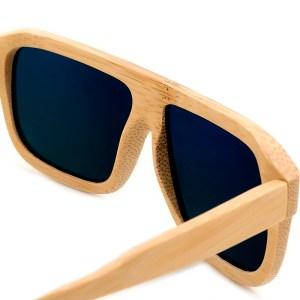 Ochelari de soare din lemn Bobo Bird lentila albastra