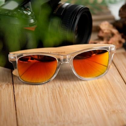 Ochelari de soare Bobo Bird transparent cu lentila portocalie