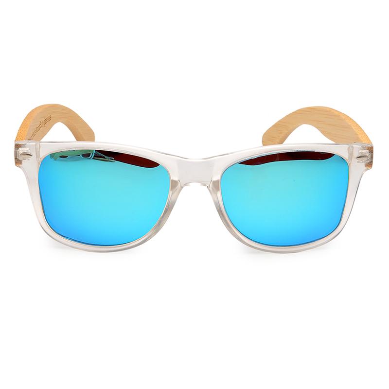 Ochelari de soare Bobo Bird transparent, lentila albastru