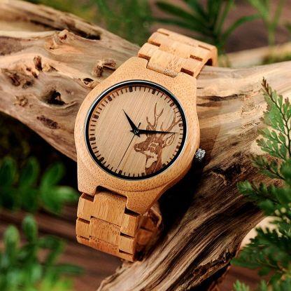 Ceas Bobo Bird cu curea din lemn D28