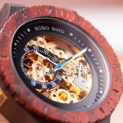 Ceas din lemn Bobo Bird R05 rosu