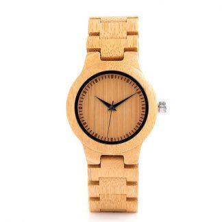 Ceas din lemn Bobo Bird cu curea din lemn, L28
