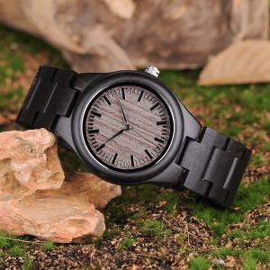 Ceas din lemn Bobo Bird cu curea din lemn O08-1