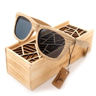 Ochelari de soare din lemn Bobo Bird, lentila gri