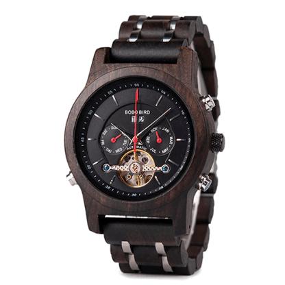 Ceas din lemn Bobo Bird mecanic Q27-1