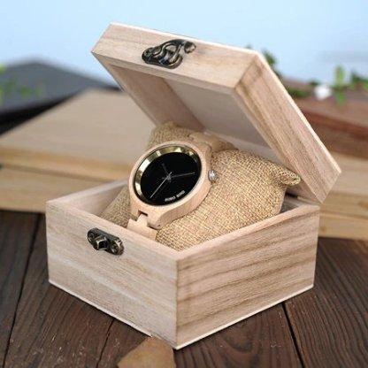 Ceas din lemn Bobo Bird cu curea din lemn, P16-2