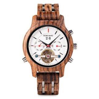 Ceas din lemn Bobo Bird mecanic Q27-4