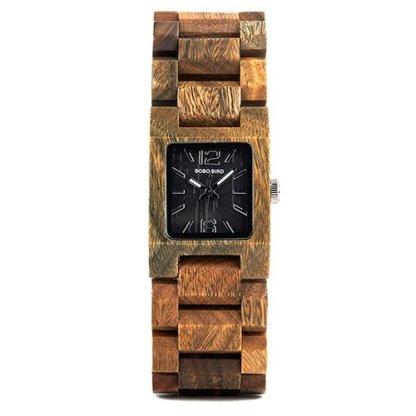 Ceas din lemn Bobo Bird cu curea din lemn S02-3