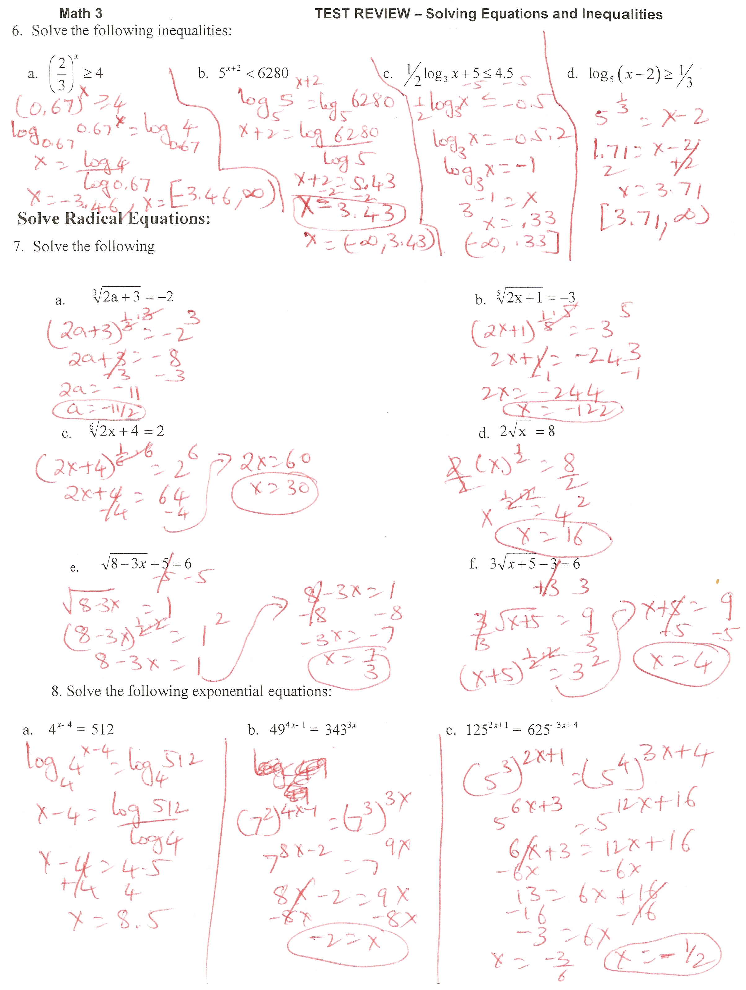 9 3 Study Guide And Intervention Solving Quadratic