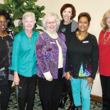 Pictured left to right are Emma Mosley president, Flora Conley vice-president, Penny Schneider, corresponding secretary, Martha Bergman, co-recording secretary, Leslie Miller, co-recording secretary and Judy Layton, treasurer.