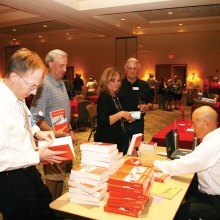 Members purchasing signed copies of Barry Webb's book Confessions of an (Ex) NSA Spy.