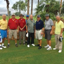 Winning Team Members – PCM9GA Yellow Ball Tournament, left to right: Josh Rabinowitz, Erv Stein, B. Quarantino, Monte Page, Rich Schmidt, Bob Mantucca, Don Burrows and Kent Chu; not in photo: C. Kozlara, Ed Force, Randy Prinz, Dave Wattenberg, Don Belonax, Sam Smith