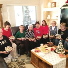 Left to right: Kearin Kasper, Sue Harrison, Marilyn Reynolds, Ellen Enright, Carolyn Suttles, Carol Sanders, Jane Hee, Kathy Hubert-Wyss, Barbara Patrow