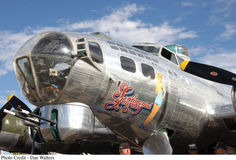 Sentimental Journey - a fully restored B-17 Flying Fortress; photo by Dan Walters