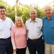 Left to right: Steve Sanderson, Kathy Bergman, Sudhakar Divakaruni and Dave Comfort