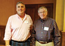 General Manager Bill Barnard presented Russ Galewski with Volunteer of the Year honors.