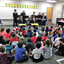 The Roving Readers traveled to three schools in the Dysart School District to perform for kindergarten through second graders.