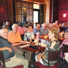 PebbleCreek Singles enjoyed eating at PF Chang's after the June meeting.