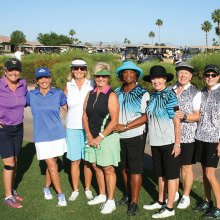 Left to right: Ellen Enright, Marilyn Reynolds, Linda Thompson, Arlene Engelbert, Carolyn Suttles, Jane Hee, Sue Harrison, Kearin Kasper