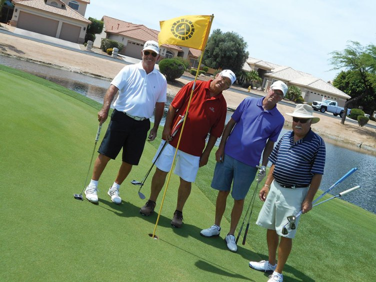 Some Goofy Golfers, left to right: Bruce Carlyle, Donald De Coste, Shawn Mayer and Roger Pierson