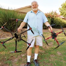 John Mullen designs, builds and services commercial grade quadcoptors (drones).