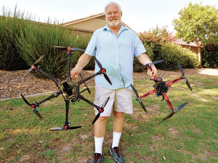 John Mullen designs, builds and services commercial grade quadcoptors (drones).