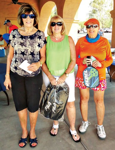 Left to right: Nevin Nelson 2nd place, Bev Shankland 1st place, Joy Bole 3rd place