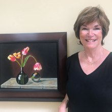 Reflections, a painting by Connie Haskell, is on display at the Creative Arts Center.