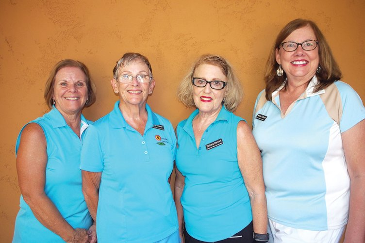 PCL9GA Officers—-Loreen Greer, treasurer; Patty Greene, president; Barbara Hockert, president-elect; Melissa D'Onofrio, secretary