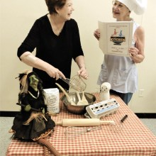 The Kitchen Witches director Sandra Hand and Assistant Director Pam Engel perfect their recipe for this hilarious comedy.