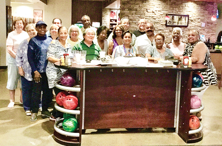 We love to bowl and eat!