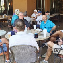 PCM9GA, Golfing Niners, enjoy cool refreshments after shooting some hot scores.
