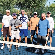 From left to right: Roger Krouskup, Rick Horst, Charlie Hunt, Lou Tronzo, Dan Clinton, and Jim McKenna.