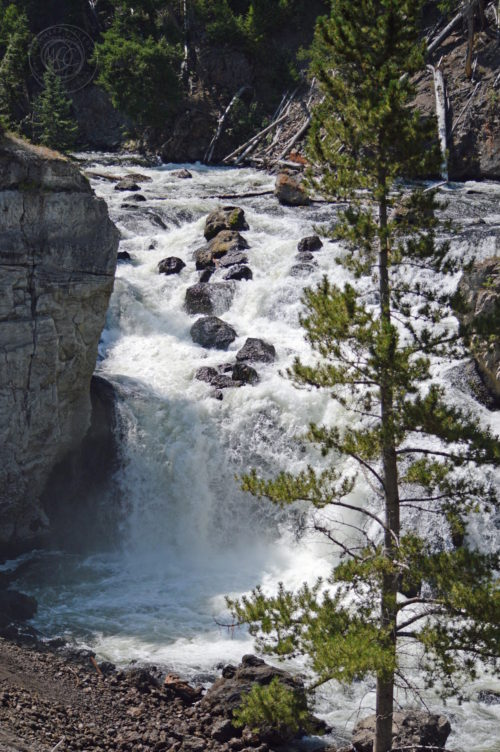 Yellowstone National Park Visitors Guide Firehole Falls