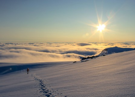 Above the clouds on Breakenridge