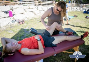 One of the highlights...post race massage!