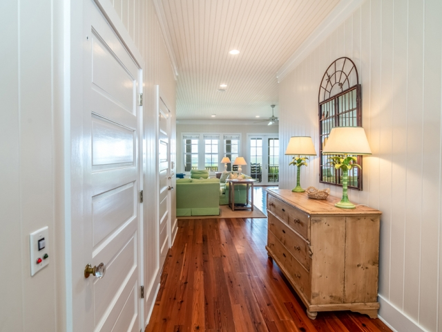 Prince George at Pawley's Island 19 hallway green Pebbles Nix Interiors