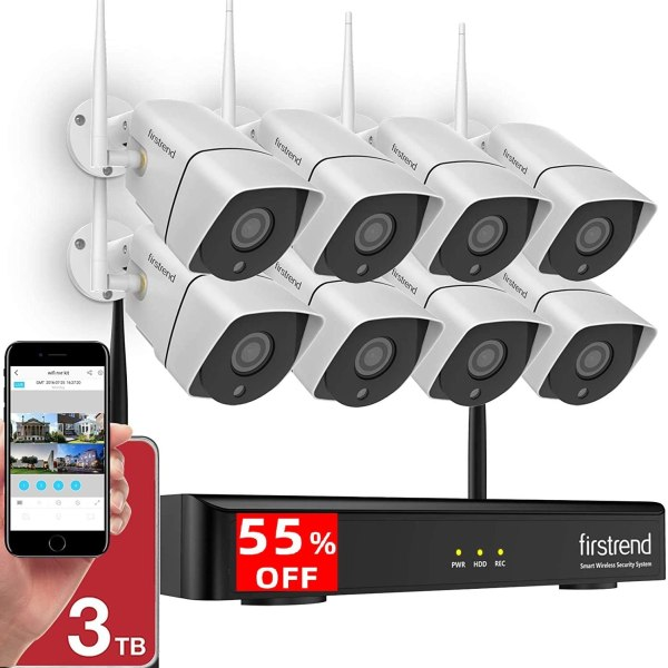 1080P Wireless Security System, 8CH Wireless NVR