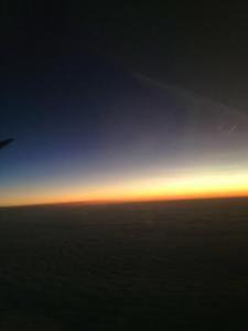 Sicht aus dem Flugzeug
