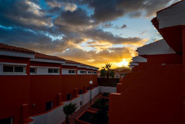 Sonnenuntergang auf dem Balkon