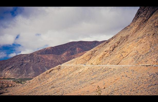 Die Straße durch die Berge