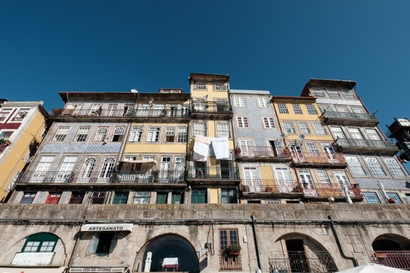 Typische Häuser in Porto