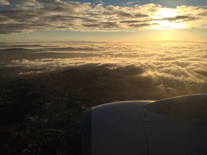 Anflug auf Porto