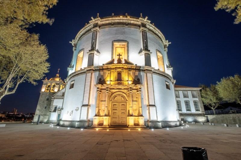 """Kloster """"Serra do Pilar"""" bei Nacht"""