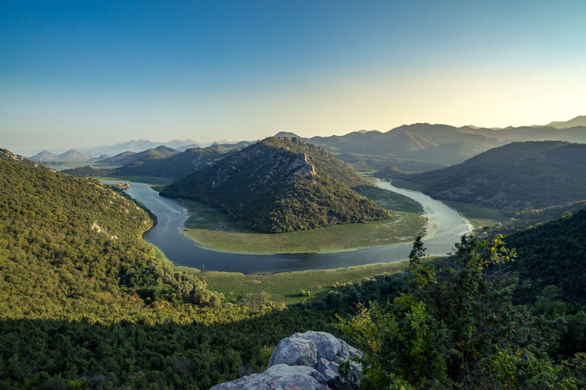 Montenegro Skadar Lake Delta sunset