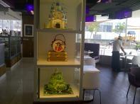 Cakes in their displays